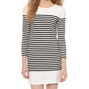 Joie Black & White stripe Long sleeve Sheath Dress